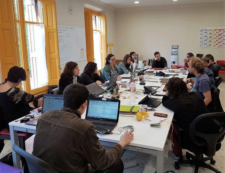 Imatge d'una sessió del Programa de Garantia Juvenil