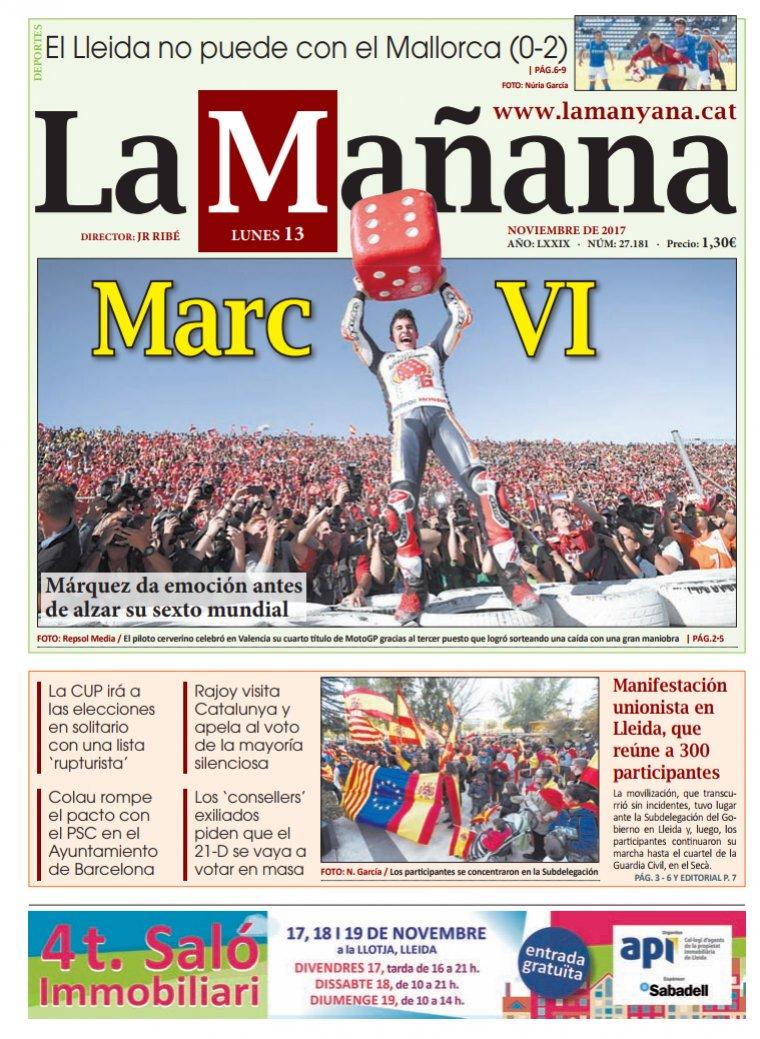 La Manyana, 13 de novembre.