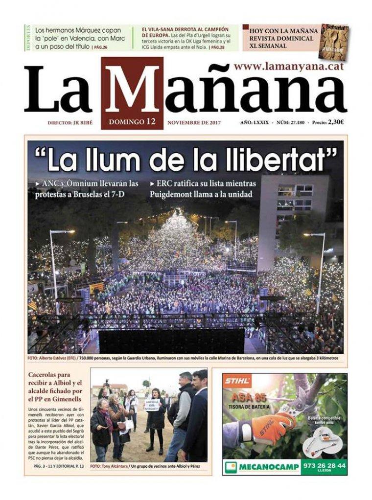 La Manyana, dia 12 de novembre