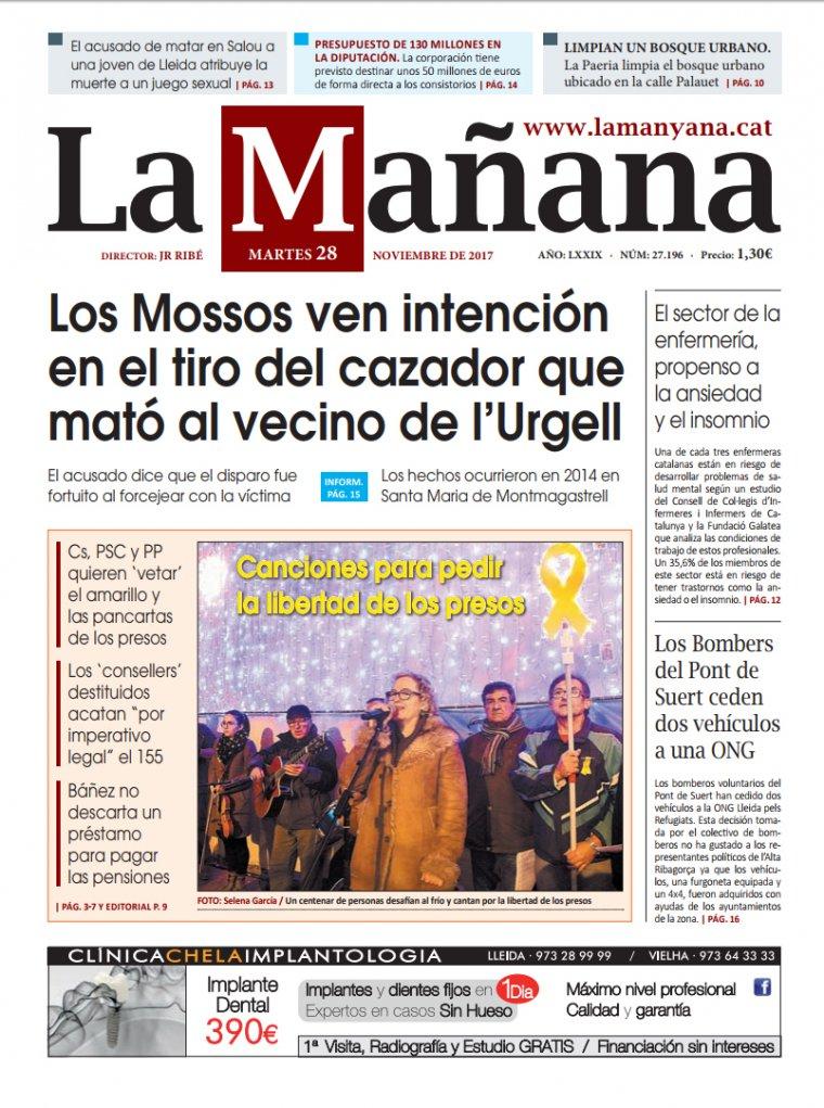 La Manyana, dia 28 de novembre