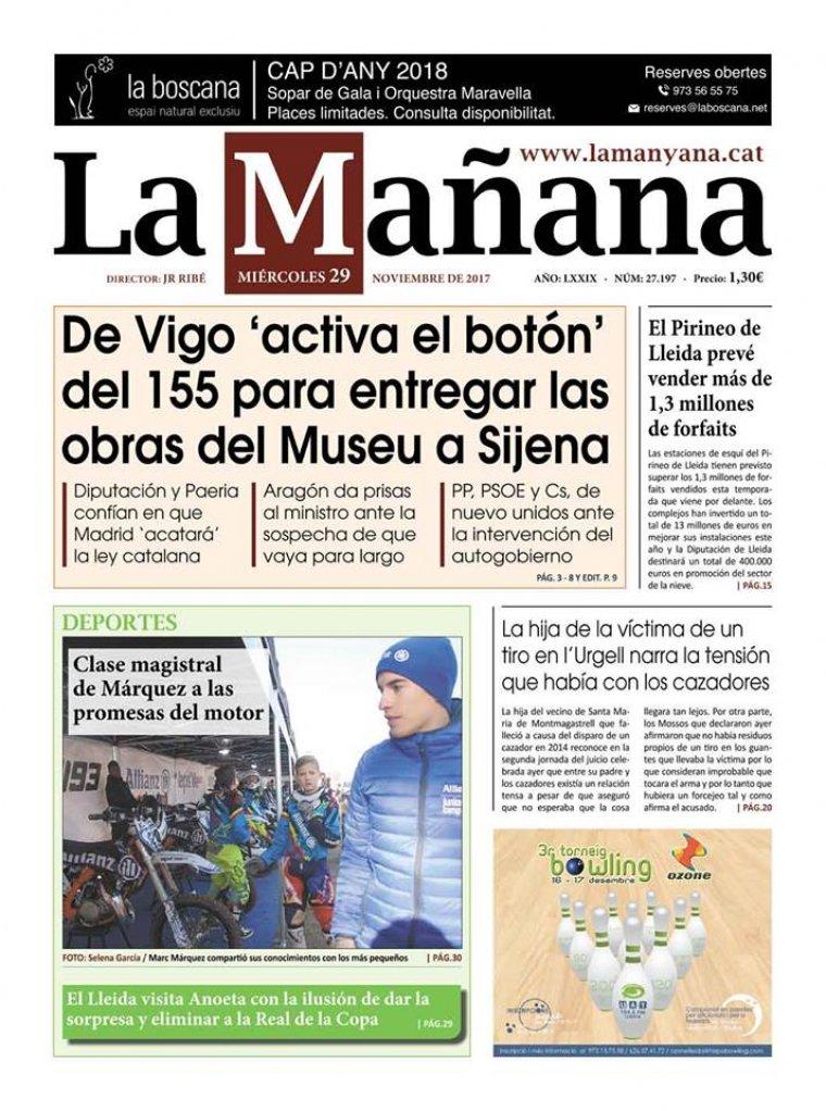 La Manyana, dia 29 de novembre