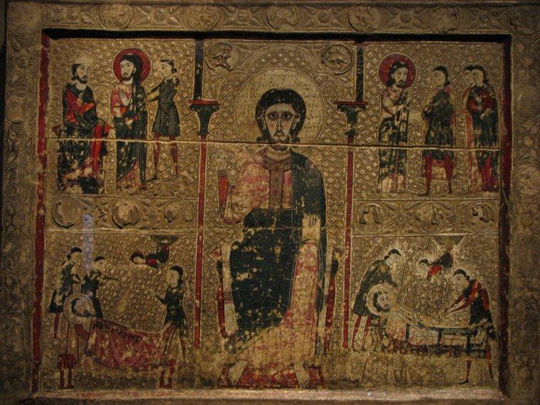 Una de les obres de la Franja en litigi amb l'Aragó exposada al Museu de Lleida