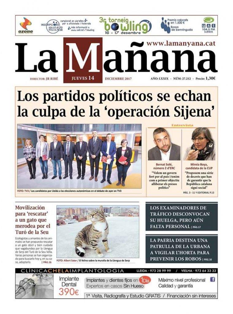 La Manyana, dia 14 de desembre