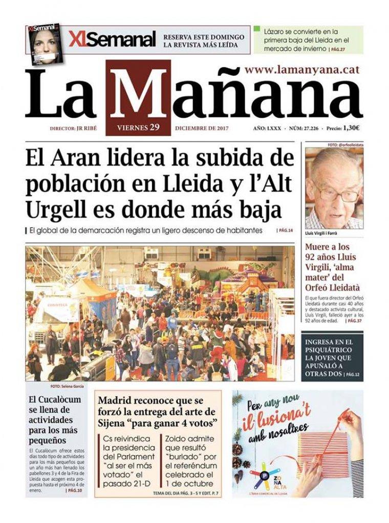 La Manyana, dia 29 de desembre