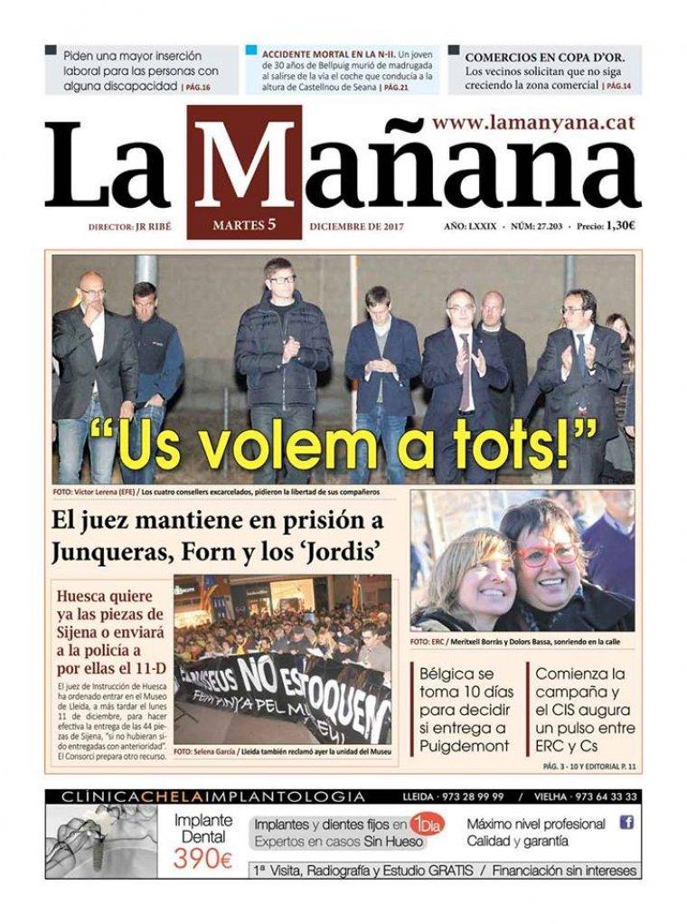 La Manyana, dia 5 de desembre