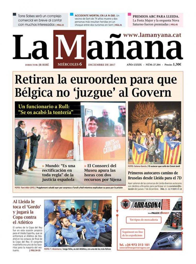 La Manyana, dia 6 de desembre