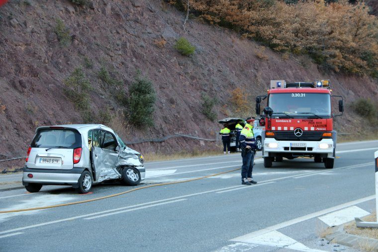 L'accident s'ha registrat al quilòmetre 284 de l'N-260.