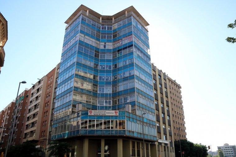 L'exterior de l'edifici dels sindicats de Lleida