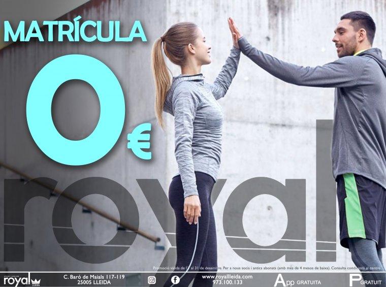 Promoció del centre esportiu Royal Lleida pel mes de desembre.