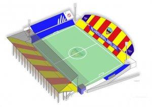 Imatge del mosaic que lluirà el Camp d'Esports de Lleida.