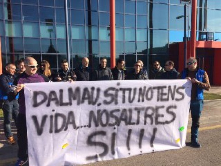 Imatge de la protesta dels mossos a Lleida