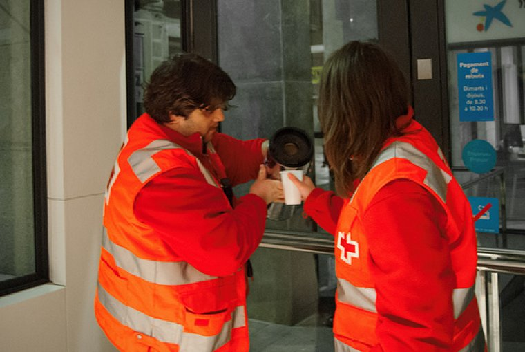 Imatge de voluntaris de Creu Roja Lleida