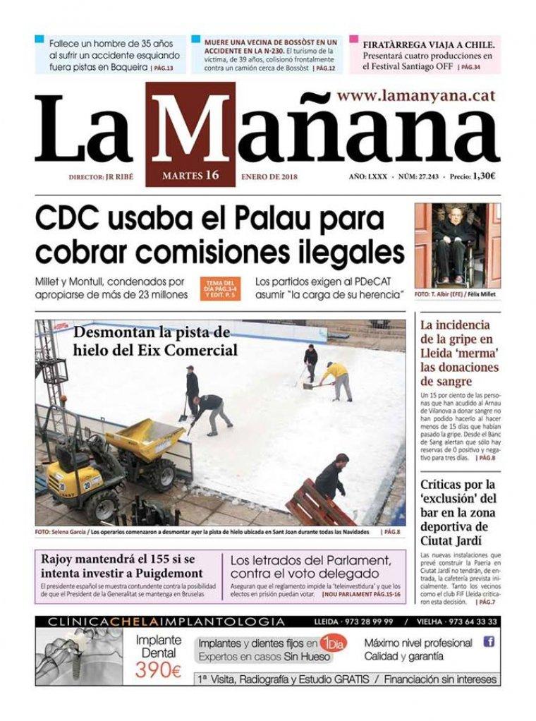 La Manyana, dia 16 de gener de 2018