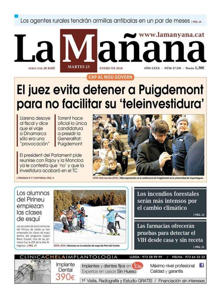 La Manyana, dia 23 de gener de 2018.