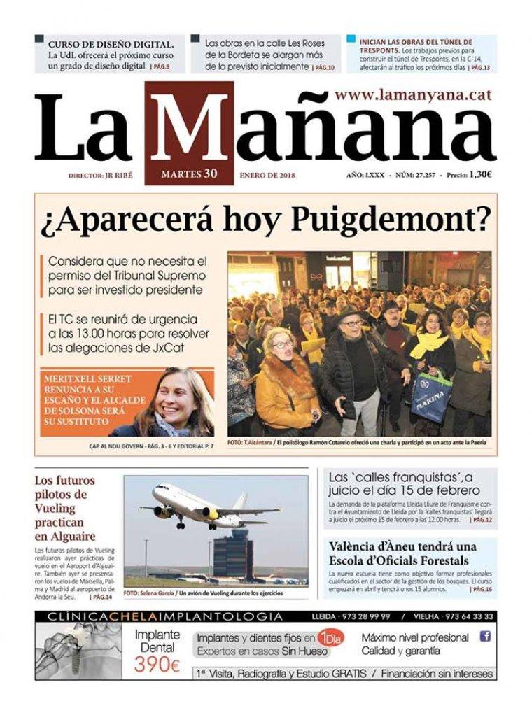 La Manyana, dia 30 de gener de 2018