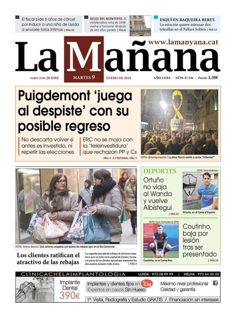 La Manyana, dia 9 de gener