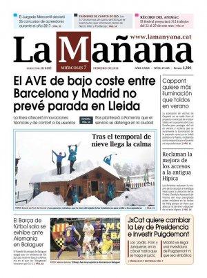 La Manyana, dia 7 de febrer de 2018