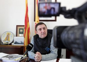 L'alcalde de Vilanova de Sixena, Ildefonso Salillas