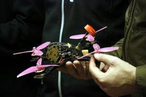Un drone que competeix a la 3a Drone Party de Mollerussa