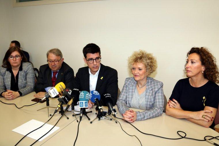 Els cinc regidors dels grup del PDeCAT a l'Ajuntament de Lleida