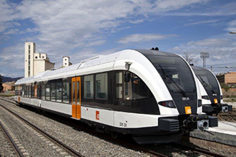 Imatge del tren de la Pobla