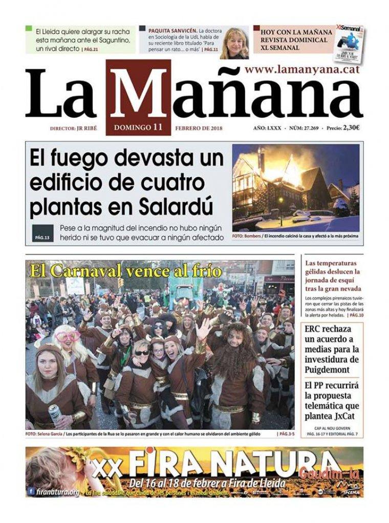 La Manyana, dia 11 de febrer de 2018.