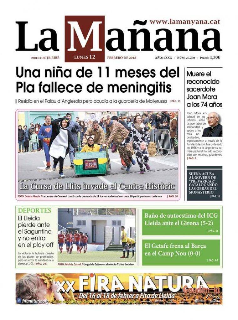 La Manyana, dia 12 de febrer de 2018.
