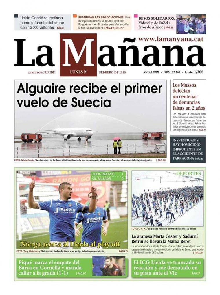 La Manyana, dia 5 de febrer de 2018