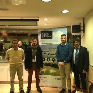Imatge de la presentació del Xai 100% criat a Lleida