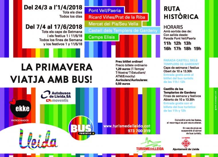 Cartell de les activitats que es poden fer amb el Bus Turístic