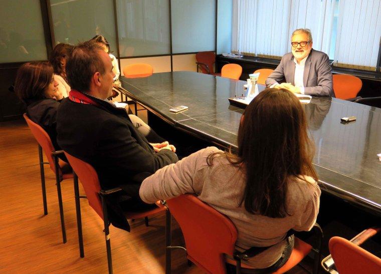 Els lleidatans es van reunir amb el regidor Fèlix Larrosa