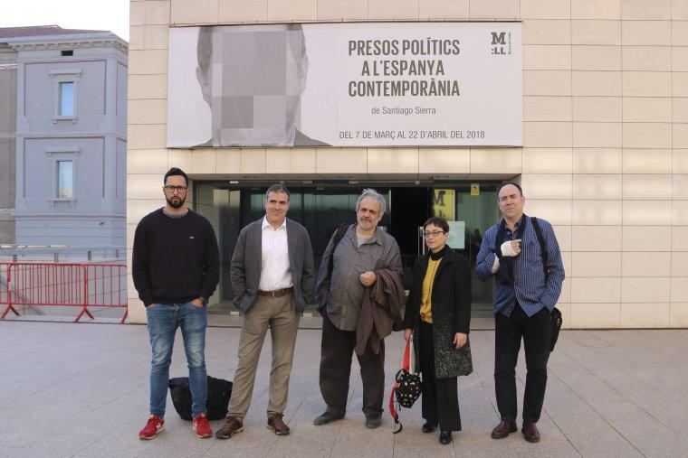 Els participants de la taula rodona al Museu de Lleida
