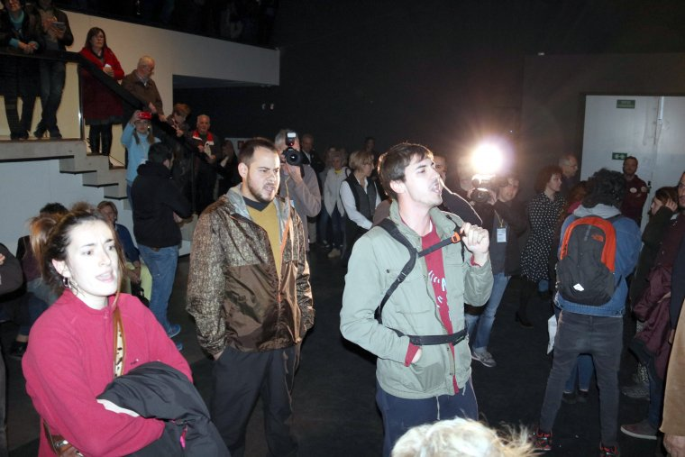Entre els manifestants estava Pablo Hasél.