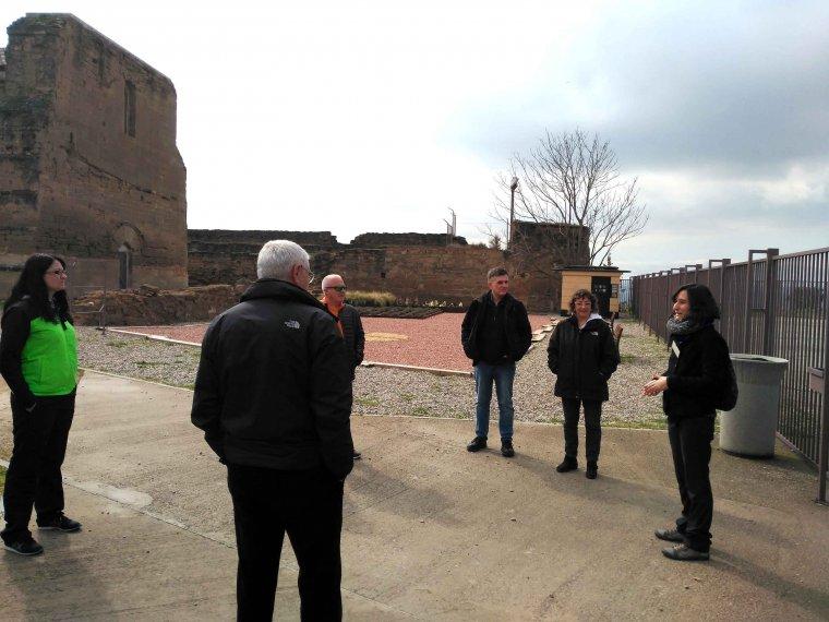 Imatge de la visita al Castell dels Templers