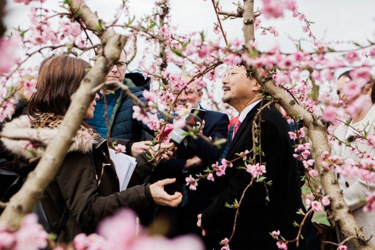 Imatge de la visita del cònsul del Japó