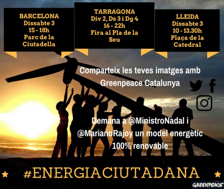 Imatge de l'acció d'aquest dissabte a Lleida