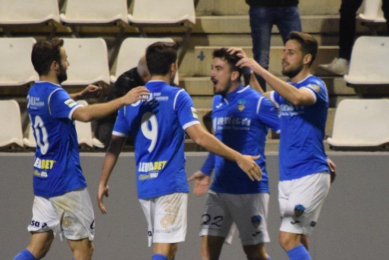 Imatge del moment de la celebració del gol
