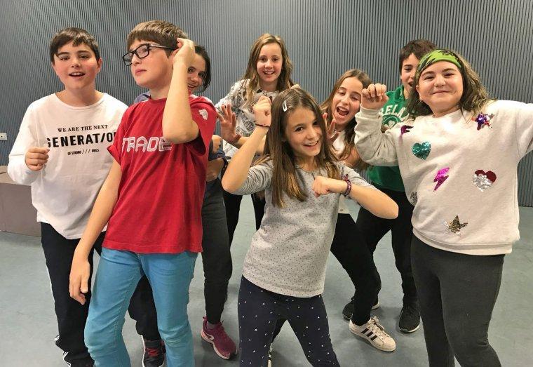 Imatge d'un grup d'alumnes participants