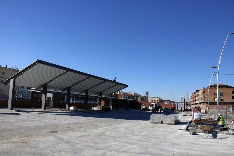 La nova estació d'autobusos de Mollerussa pràcticament acabada.