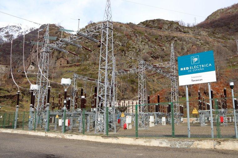 Pla general de l'exterior de la central de Tavascan, al Pallars Sobirà, on s'hi ubicarà un museu a l'aire lliure sobre l'interior de la central