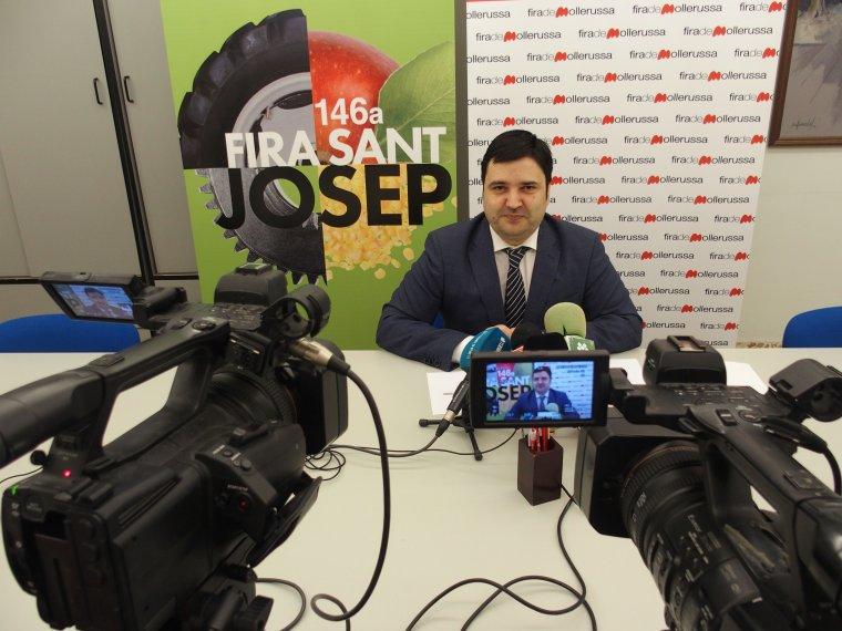 Poldo Segarra durant la presentació de les Jornades Tèniques 2018.