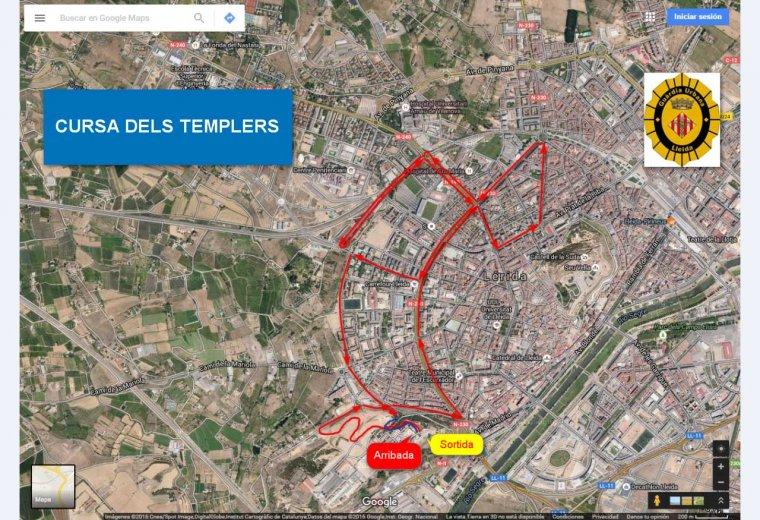 Recorregut de la XII Cursa dels Templers de Lleida.
