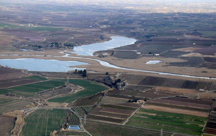Una de les vistes obligades de la sortida és la zona del Pantà d'Utxesa.