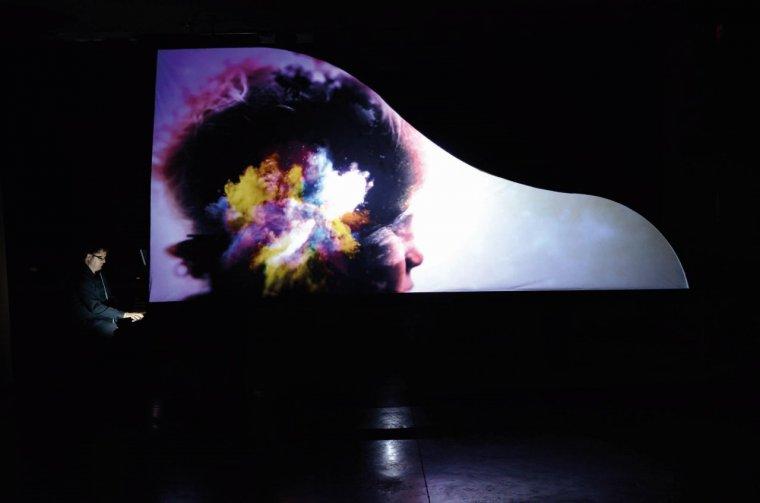 Una imatge de l'actuació de David Pradas