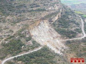 Esllavissada de grans dimensions al Pallars Jussà.