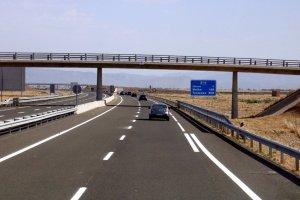 Part dels sis quilòmetres de l'A-14 entre Lleida i Rosselló (Segrià)