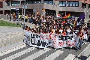 Pla general de la manifestació d'estudiants