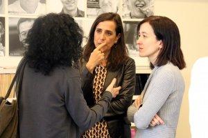 Pla mig de la directora de Pagès Editors, Eulàlia Pagès, amb l'escriptora Marta Alòs