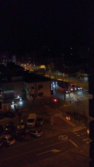 Una altra imatge dels camions per Lleida