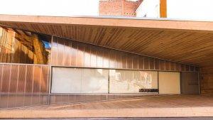 Vista exterior de la Casa de Fusta-Coworking, el nou espai per a emprenedors al Centre Històric de Lleida.